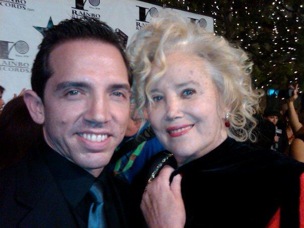 Mel England and Sally Kirkland at Hollywood Fame Awards