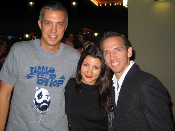 Mel at the Premiere of Little Big Top with Producer Christina Mauro and Ian Slagle